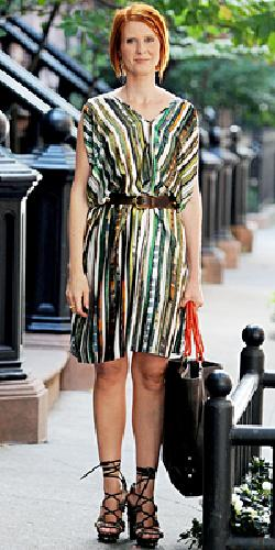 Stripe Print Dress by Zero + Maria Cornejo in Sex and the City 2