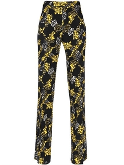 Printed Wool Crepe Pants by Giambattista Valli in Empire