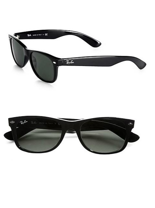 New Square Wayfarer Sunglasses by Ray-Ban in Dope