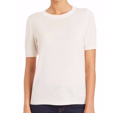 Wool & Cashmere Lace-Panel Sweater by Saks Fifth Avenue Collection in Quantico