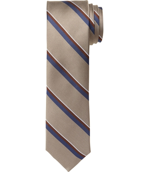 Joseph Slim Satin Thin Stripe Tie by Jos. A. Bank in Brooklyn Nine-Nine - Season 3 Episode 7