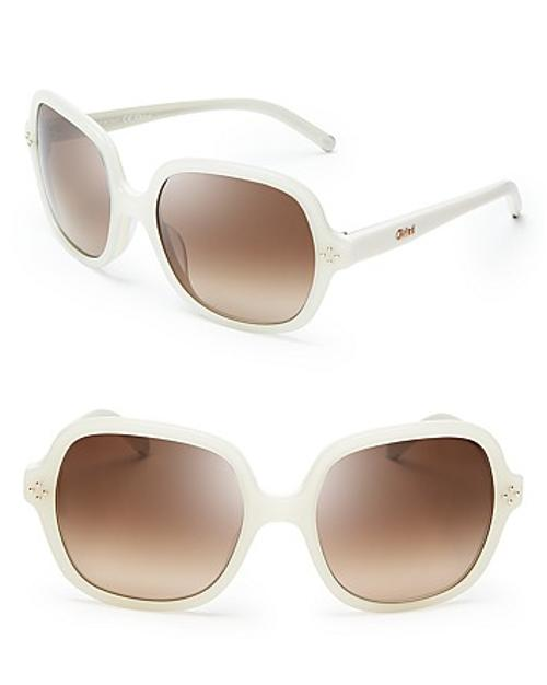 Boxwood Square Oversized Sunglasses by Chloé in The Other Woman