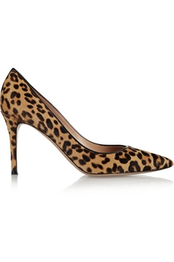 Leopard-Print Calf Hair Pumps by Gianvito Rossi in Arrow