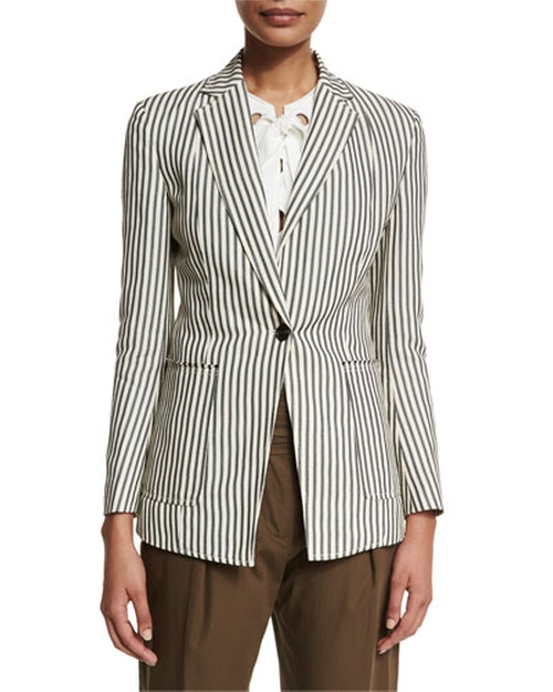 Striped Single-Button Blazer by 3.1 Phillip Lim in How To Get Away With Murder - Season 2 Episode 10