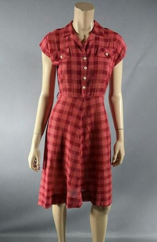 Custom Made Plaid Shirt Dress by Arjun Bhasin (Costume Designer) in Begin Again