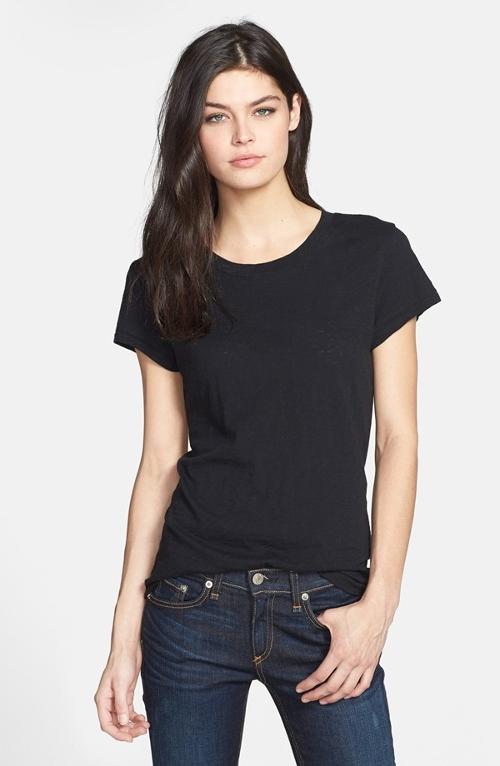 Slubbed Cotton T-Shirt by Rag & Bone/Jean in Mean Girls