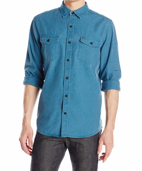 Burn Long Sleeve Woven Shirt by Hurley in The Ranch -  Looks