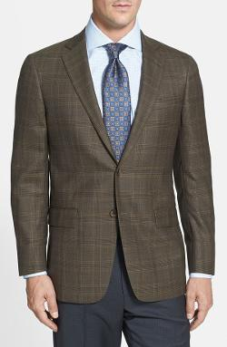 'New York' Classic Fit Plaid Sport Coat by Hart Schaffner Marx in Savages