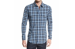 Western-Style Bicolor Check Sport Shirt by Tom Ford  in Keeping Up with the Joneses
