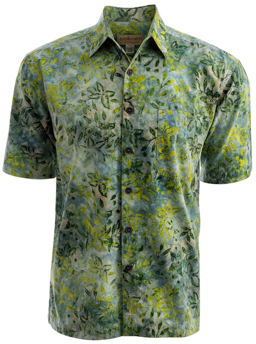 Tropical Hawaiian Cotton Batik Shirt by Johari West in Deadpool