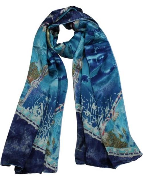 Women's Silk Scarf by Dahlia in Wedding Crashers