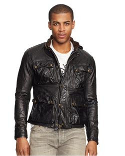 Southbury Leather Biker Jacket by Ralph Lauren in Scandal