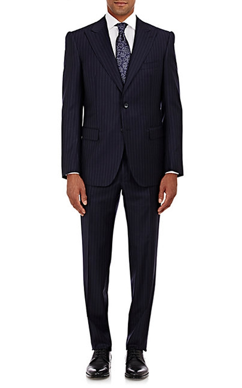 Striped Two-Button Marbeuf Suit by Cifonelli in Billions - Season 1 Episode 3