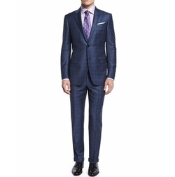 Plaid Two-Piece Wool Suit by Ermenegildo Zegna in Empire