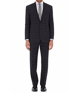 Plaid Anthony Two-Button Suit by Ralph Lauren Purple Label in Empire