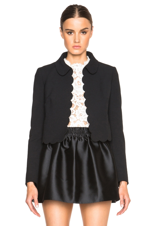Scalloped Blazer by Red Valentino in Chi-Raq