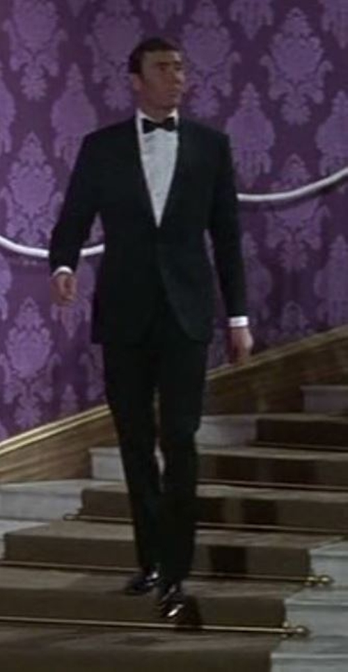 Custom Made Peak Lapel Tuxedo Suit by Dimi Major (Costume Designer) in On Her Majesty's Secret Service