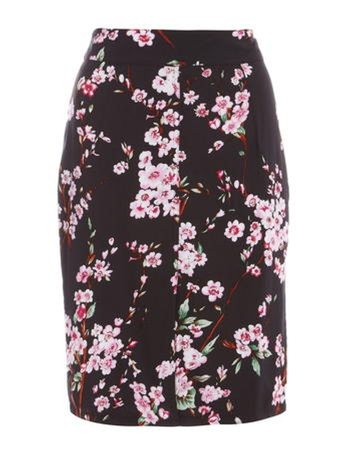 Floral Midi Pencil Skirt by Ruby Rocks in The Flash - Season 2 Episode 12