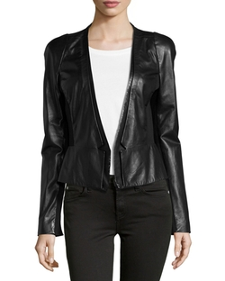 Leather Blazer by Halston Heritage in Ballers