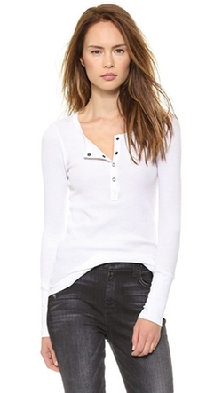 Thermal Henley Top by Splendid in Keeping Up With The Kardashians