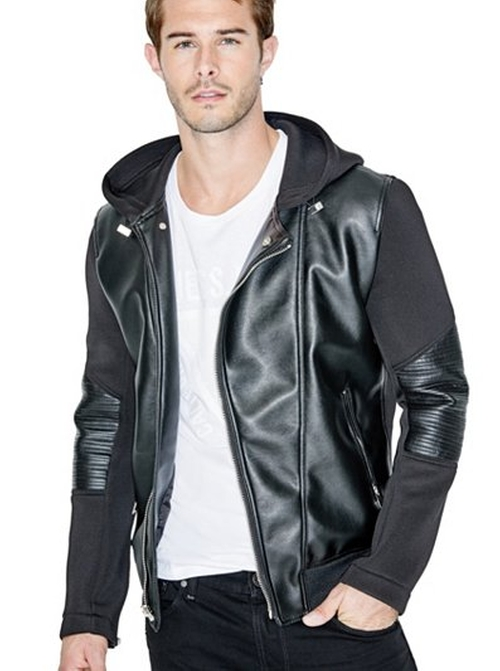 Rylan Bonded Hoodie Jacket by Guess in Keanu