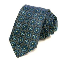 Modern Vine Medallion Silk Tie by AlaraShirt in Suits