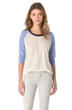 Beach Raglan Tee by LNA in Laggies