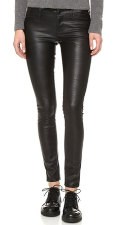 Vegan Leather Skinny Pants by Blank Denim in Deadpool