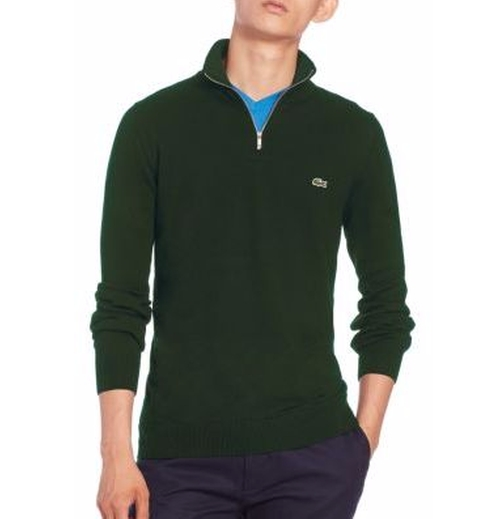 Quarter-Zip Cotton Sweater by Lacoste in Why Him?