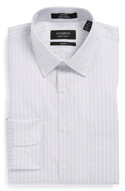 Non-Iron Trim Fit Stripe Dress Shirt by Nordstrom in Anchorman 2: The Legend Continues