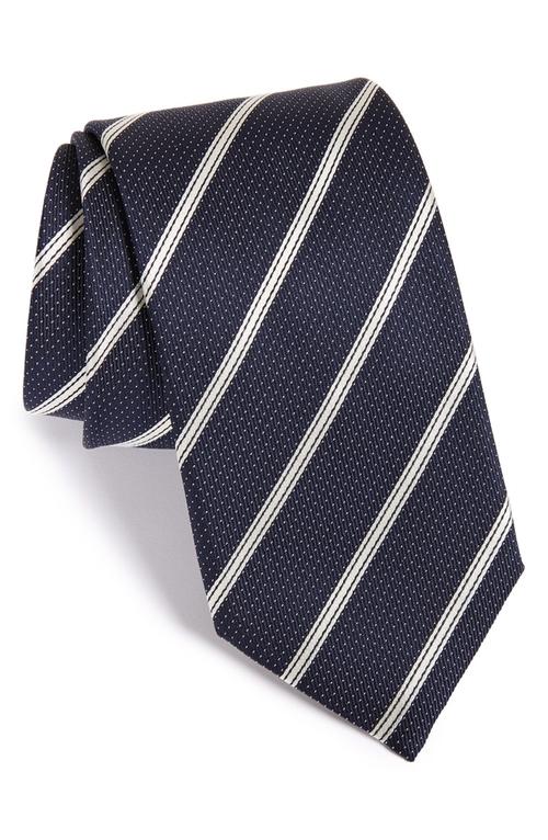 Stripe Silk Tie by Canali in Crazy, Stupid, Love.