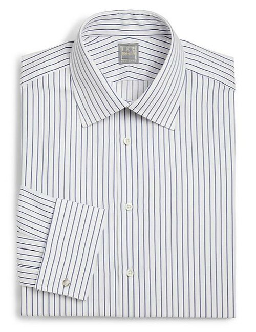 Regular-Fit Crosby Striped Dress Shirt by Ike Behar in The Blacklist - Season 3 Episode 4