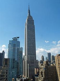 New York City, New York by Empire State Building in Yves Saint Laurent
