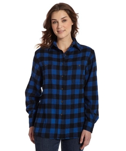 Buffalo Check Flannel Shirt by Woolrich in Trainwreck