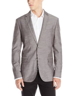 Men's Fine Slub Sport Coat by Calvin Klein in Birdman