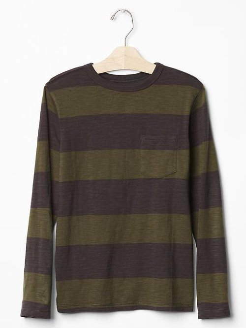 Stripe Long Sleeve Tee Shirt by Gap in Run All Night