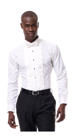Ribbed Tuxedo Shirt by Black Lapel in The Great Gatsby