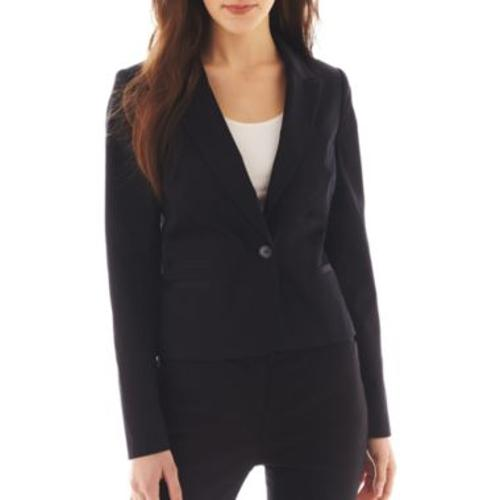 1-Button Sateen Jacket by WORTHINGTON in This Is Where I Leave You