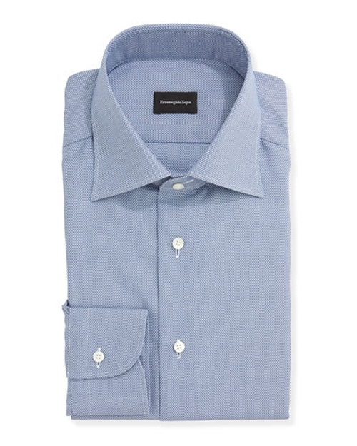 Textured Oxford Dress Shirt by Ermenegildo Zegna in Trainwreck