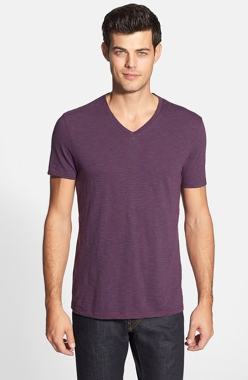 Short Sleeve V-Neck T-Shirt by Vince in Fast Five