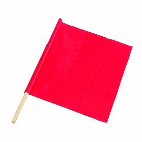Fluorescent Red/Orange Traffic Warning Flag by Bon in Wish I Was Here