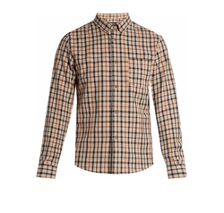 Checked Cotton Shirt by A.P.C. in Power