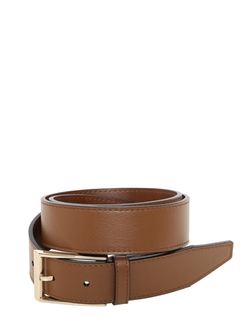 Signature Leather Belt by Burberry in By the Sea