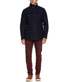 Men's Wool Melton Four-Pocket Field Jacket by Ben Sherman in Ride Along