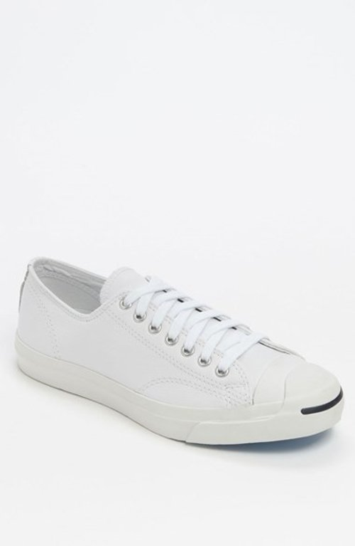 'Jack Purcell' Leather Sneaker by Converse in Blackhat