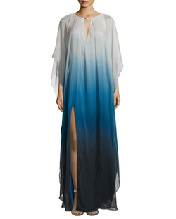 Long-Sleeve Ombre Caftan Gown by Halston Heritage in Grace and Frankie