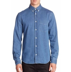 Long Sleeve Denim Shirt by Acne Studios in Spider-Man: Homecoming