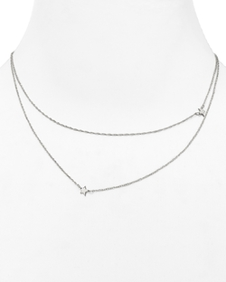 Double Layer Mini Stars Necklace by Jennifer Zeuner in Scandal