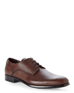 Brown Plain Toe Dress Oxfords by Bruno Magli in Adult Beginners