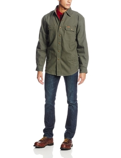 Weathered Canvas Shirt Jacket by Carhartt in The Big Bang Theory